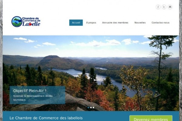 L 39 agence web des laurentides wordpress opencart for Chambre de commerce laurentides