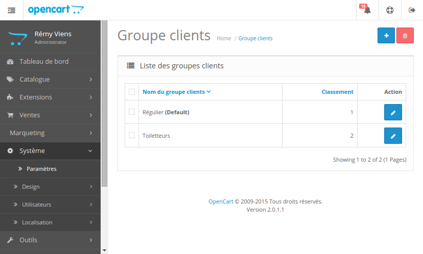 Groupe client